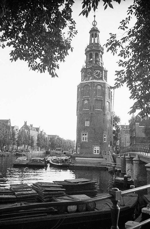Montelbaanstoren tower in Amsterdam, the Netherlands