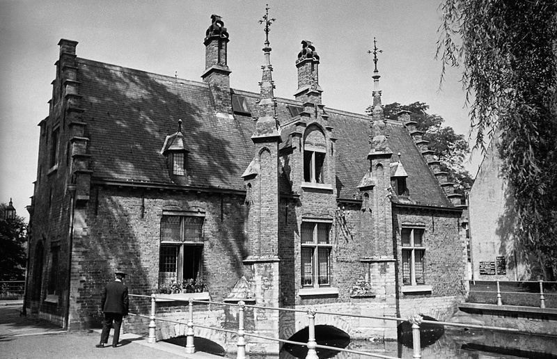 House at Minnewater in  Bruges, Belgium