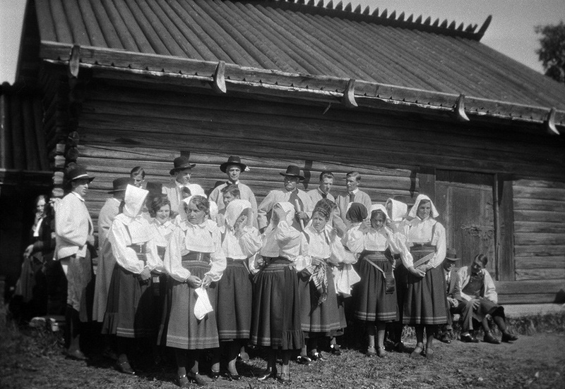 Local choir at Anders Zorn's Gammelgård, Mora, Dalarna, Sweden