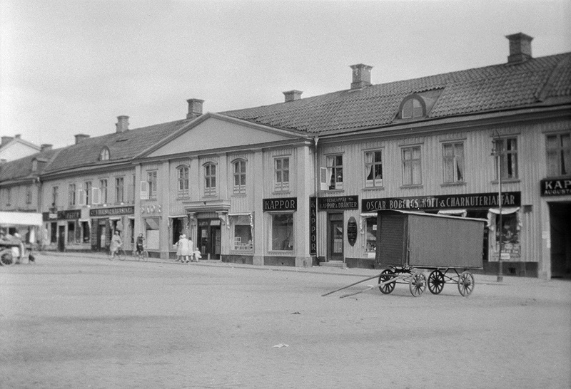 Buildings at the Main square in Västerås, Västmanland, Sweden